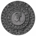 Niue Islands 5 $ - 2 Oz Silber Ancient Calendars Mayan...