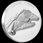 Niue Islands 5 $ - 2 Oz Silber Millennium Falke Star Wars...