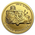 Niue Islands 5 Dollar Czech Lion - Tschechischer Löwe, 2018, 1/25 Oz Gold BU