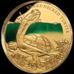Niue 2020 $100 Snake-Necked Turtle 1oz Gold Proof...