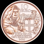 Austria 10 Euro Austria - Knights Brotherhood 2021 Copper...