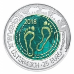 Austria 25 Euro Niob Anthropocene  2018