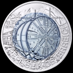 Austria 25 Euro Tunnel Construction Silver Niob HGH  2011