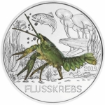 Austria 3 Euro Silver Colourful Creatures The Crayfish 2019