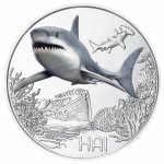 Austria 3 Euro Silver Colourful Creatures Shark 2018