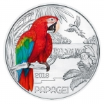 Austria 3 Euro Silver Colourful Creatures The Parrot 2018...