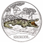 Austria 3 Euro Silver Colourful Creatures Crocodile 2017