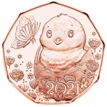 Austria 5 Euro Copper Friends Forever Happy Easter A...