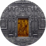 2009 Palau 2 oz Silver Amber Chamber MIneral Art Antique...
