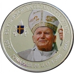 Palau 2010 1 $ 80 Years Vatican City Pope Johannes Paul II