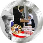 2010 Palau Mother Teresa - Medal of Freedom 1 Dollar
