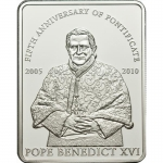Palau 2010 1 $ Pope Bendict XVI 5th Anniversary of...
