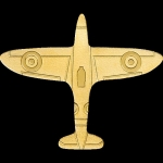 2020 Palau 1 Dollar  Gold - Golden Airplane