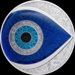 2020 Palau 5 Dollar 1 Oz Silver Evil Eye Proof