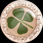 2021 Palau 5 Dollar 1 Oz Silver Ounce of Luck Rose Gold...