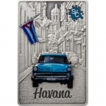 Samoa 2 Oz Silber Rectangular Havanna Splash Of Colour...
