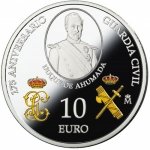 Spanien 10 Euro Silber 2019 Guardia Civil Proof