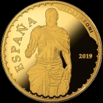 Spain 100 Euro Gold 2019 Carl V - Treasure of spanish...