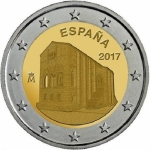 2 Euro Spain 2017 Monuments of Oviedo & Asturias