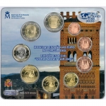 Spain Coinset WMF Berlin 2020 in BU incl. 2 Euro Tower of...