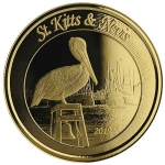 2019 St. Kitts and Nevis 1 oz Gold Pelican (2)  BU
