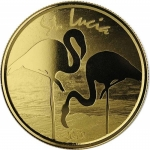 St. Lucia 10 Dollar, Flamingo (2)  EC8 1 Unze Gold, 1 oz...