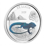 2020 St. Lucia 1 oz Silver Whiptail Lizard (3) EC8 Proof...