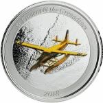 St. Vincent & The Grenadines,  2 Dollar, Seaplane EC8...