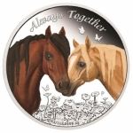 Tuvalu 1/2 Unze Silber Always Together 2017 0,50 AUD Proof