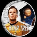 Tuvalu 2019 $1 Star Trek Captain James T. Kirk  1oz Silver Proof