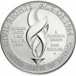 USA 1 USD Silver 50th Anniversary of Civil Rights Act 2014