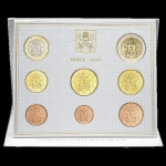 Coinset 2020 of Pope Francis BU