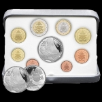 Coinset 2020 of Pope Francis Prrof incl. 20 Euro Silver