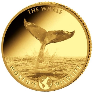 2020 Congo 5 g Gold The Whale World´s  Wildlife Proof