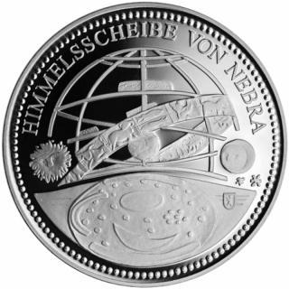 1/2 Oz Silver Nebra Sky Disc 2018  Berlin Mint in coincard