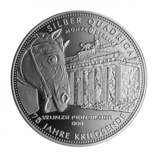 1/2 Oz Silver Germania Quadriga 2018  999,99