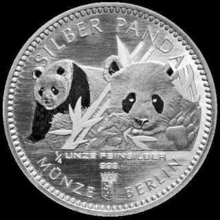 1/4 Oz Silver Panda 2016 Berlin Mint in capsule