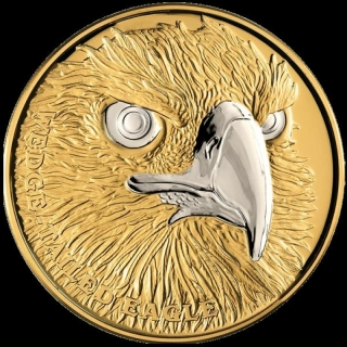 2019 $100 Niue Wedge Tailed Eagle 2019 1 oz Gold Wildlife Platinum Plating Proof