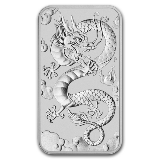 1 Oz Silber Drachen Dragon Rectangular 2019 Australien 1,0 AUD Perth Mint
