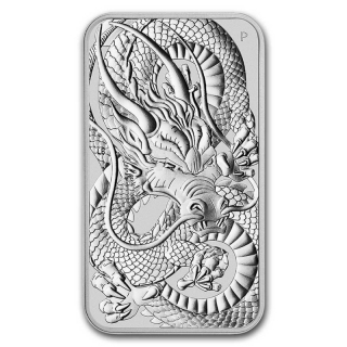2021 Australia 1 oz Silver Dragon Rectangular BU