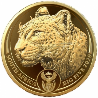 1 Unze Gold Big Five Leopard Südafrika 2020 Proof