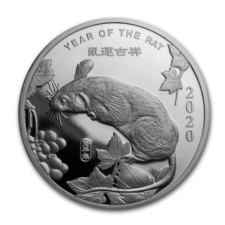 1 oz Silver Round - (2020 Year of the Rat)