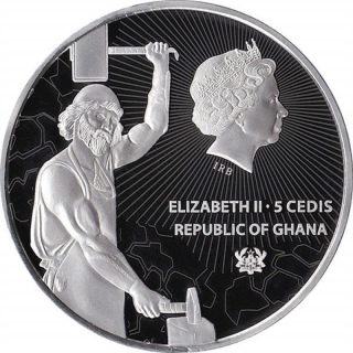 1 Unze Silber Ghana INFERNOMANT Treasures of the Blue Planet Feingehalt 999 5 Cedis 2019