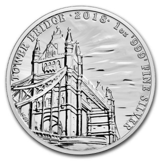 2018 Great Britain 1 oz Silver Landmarks of Britain (Tower Bridge)