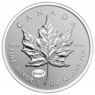 1 Unze Silber Privy Mark Einstein E=m2 Maple Leaf 2015 Kanada E=mc²