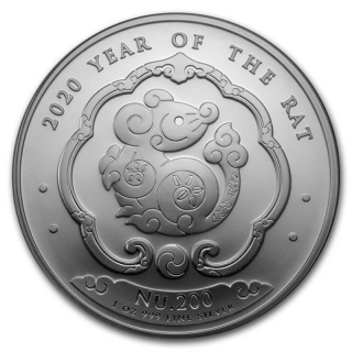 2020 Bhutan 1 oz Silver Lunar Mouse Year of the Mouse