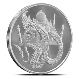1 Unze Silber Silver Round The Indian World of Dragons  999,99