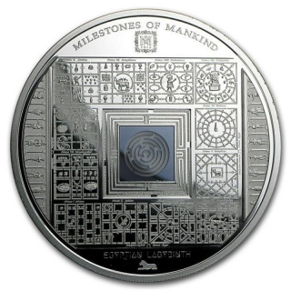 10 $ 2016 Cook Islands -  Milestones of Mankind Egyptian Labyrinth