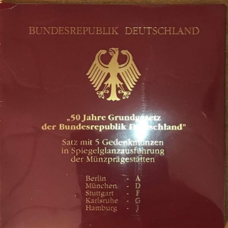 10 DM Germany 1999 50 Years SOS Childrens Villages Set A, D, F, G, J, Proof