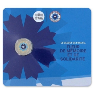 2 Euro France 2018 Cornflower 2018 France coloured in Coincard